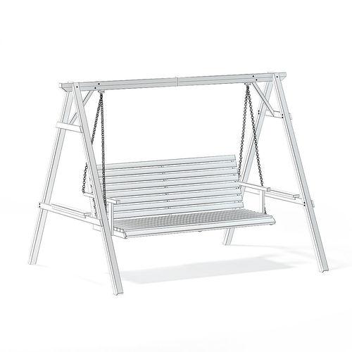 Wooden Garden Swing Chair 3d Model 3d Model Max Obj Mtl Fbx C4d