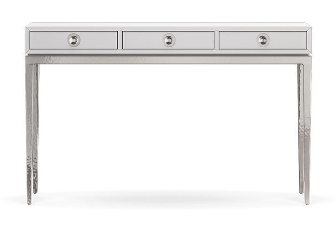 Ordinaire Jonathanadler Channing 3 Drawer Console Table 3d Model Max Obj Fbx Mat 1