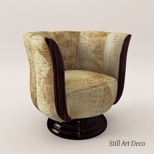 3d rotaring fauteuil art deco style cgtrader - Fauteuil Art Deco