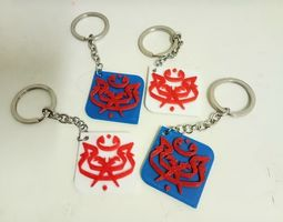 3D printable model UMNO keyring