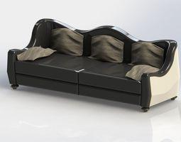 3D curved classic sofa