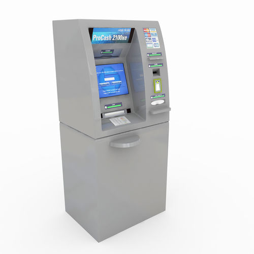 automated teller machine - cash dispenser atm pc2100 xe wincor 3d model max obj mtl 3ds fbx 1