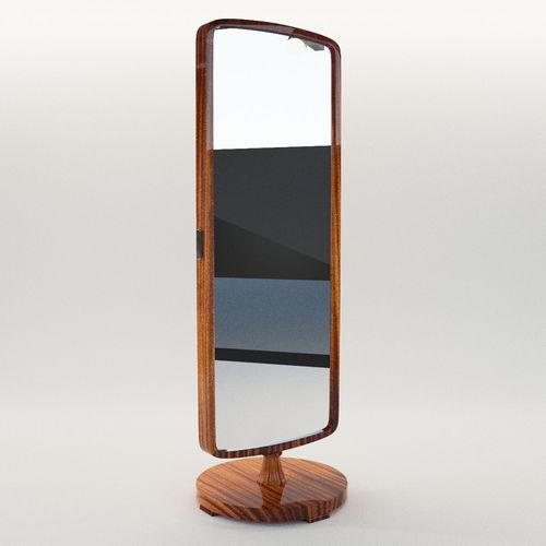 dressing mirror - art deco 1930 3d model max obj mtl fbx pdf 1