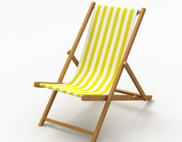 Beach Chair 3 3D model