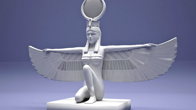egyptian isis with wings 3d model max obj mtl 3ds fbx stl blend 1