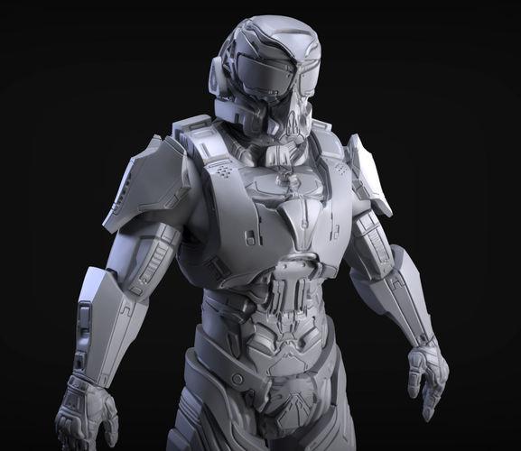 3D Model Sci-Fi Armor 4 Sculpt
