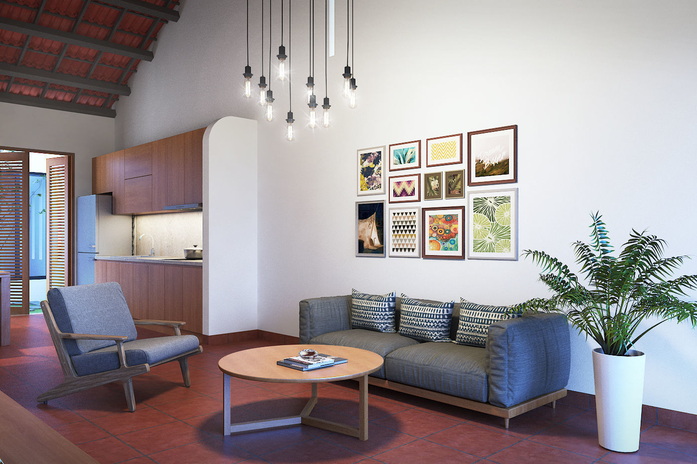 Vietnamese living room 3D model | CGTrader