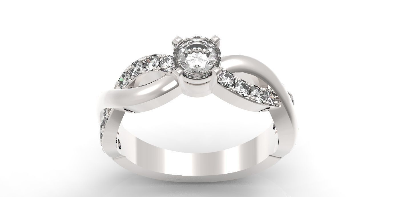 p ct in twist diamond ring infinity engagement tw gold micropave white micropav