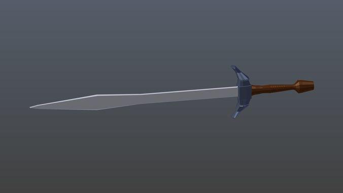 Low poly sword 3