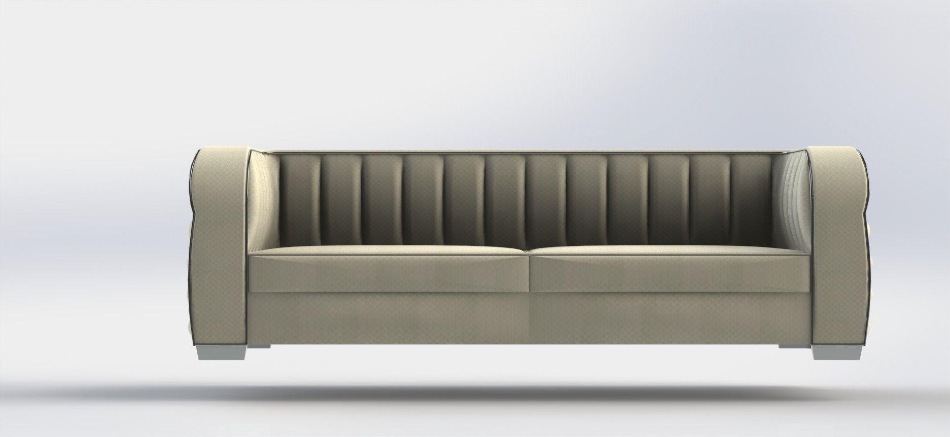 Art Deco Sofa Model Stl Sldprt Sldasm Slddrw Ige Igs Iges 4