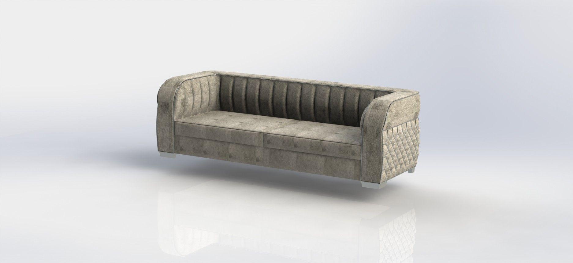 Art Deco Sofa 3d Model Stl Dwg Sldprt Sldasm Slddrw Ige Igs Iges 1 ...
