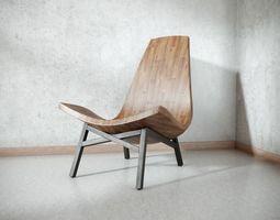 3D American Modern Wooden Chair