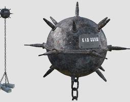 3D Underwater naval mine