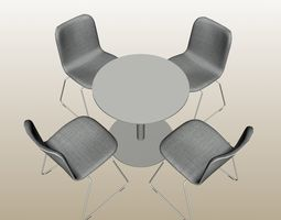 ROUND TABLE COMBO PP 01 3D model