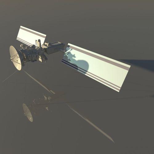 low poly model of satellite 3d model obj mtl fbx ma mb 1