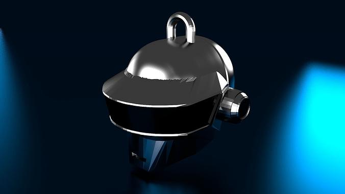 r3 daft punk thomas helmet keychain 3d model stl 1