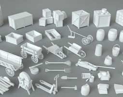 3D Environment Units-part-3 - 39 pieces