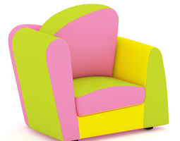 Colourful Armchair 3D model