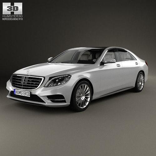 mercedes-benz s-class with hq interior 2014 3d model max obj 3ds fbx c4d lwo lw lws 1