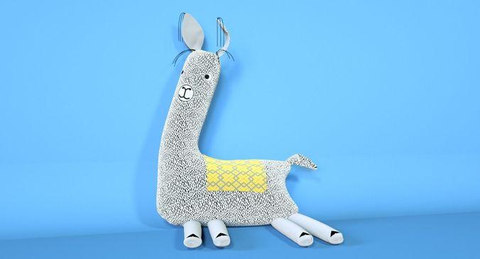 soft toy of  lama 3d model max fbx c4d 1