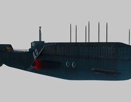 Military submarine 3D