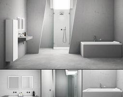 3D Bathroom furniture set ME by Starck Duravit