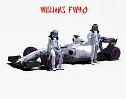 3D asset Williams FW40