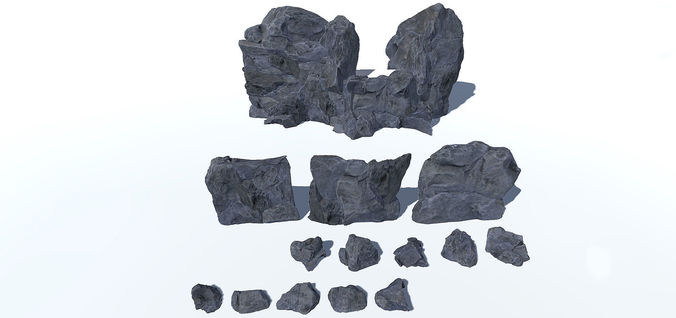 modular rocks vol 2 3d model low-poly fbx 1