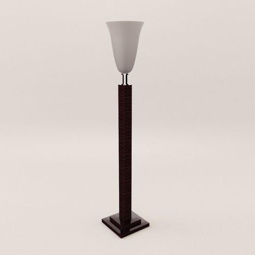 stand lamp - art deco 1930 3d model max obj mtl fbx pdf 1