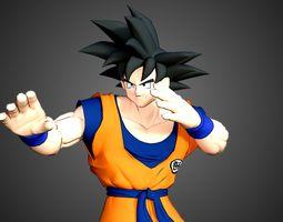 Son Goku 3D model animated