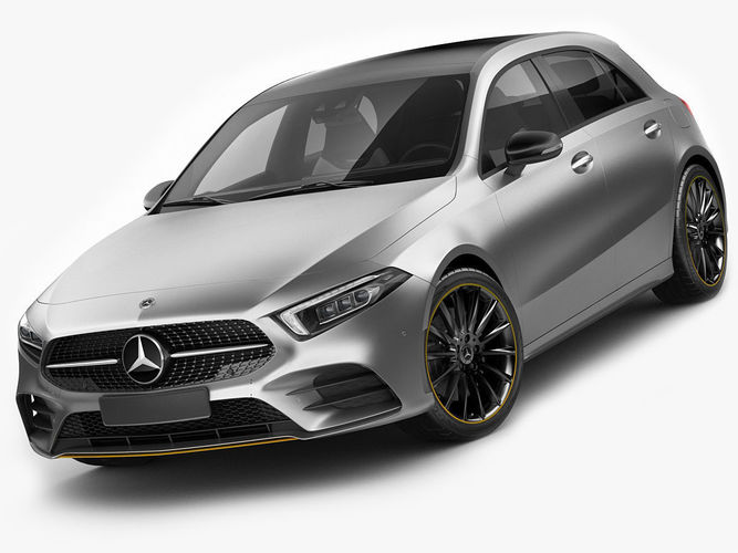 Mercedes Benz A Class 2019 Amg Line 3d Model