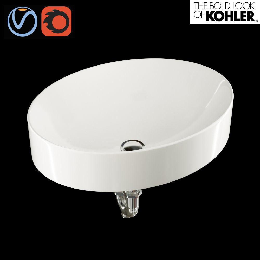 Bathroom Sink Vox Oval Kohler 3d Model Max Fbx 1 ...