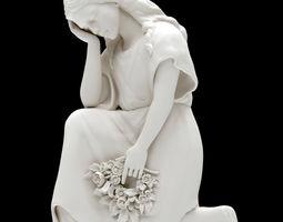 Sorrowing woman statue 3D print model sculpture
