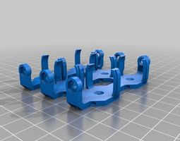 3X 18650 Battery Clip 3D printable model
