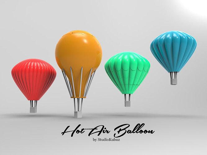 Printable Hot Air Balloons 3D Model 3D printable STL | CGTrader.com