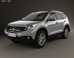 3d model honda cr-v us with hq interior 2012