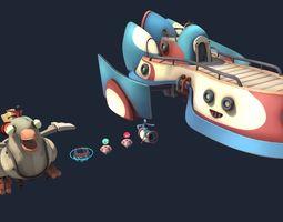 3D model Cartoon mechanical assets