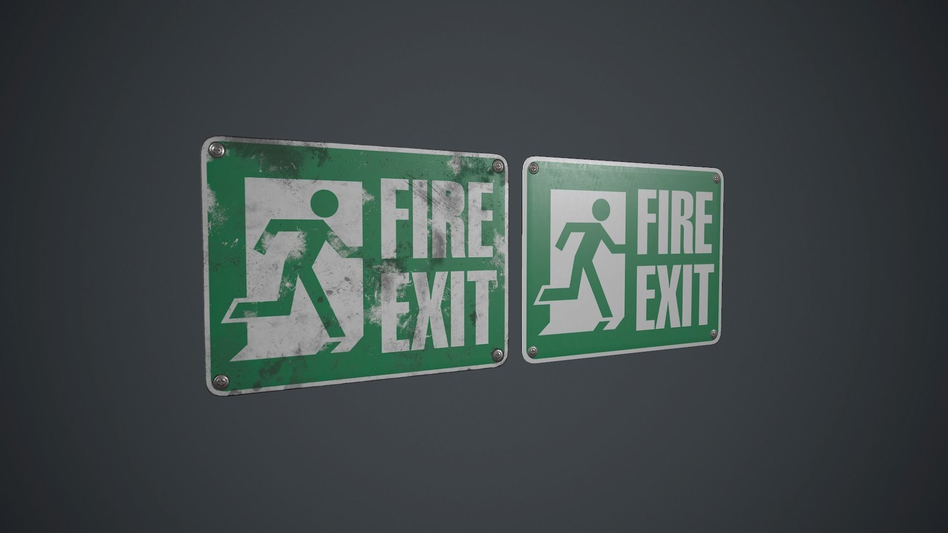 Plastic Exit Sign PBR Game Ready
