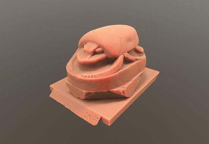scarab sculpture 3d model stl 1