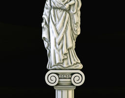 Statue of leady 3D print model