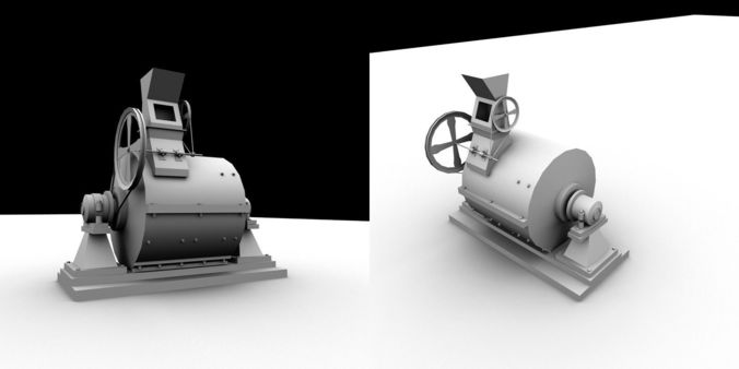 engine model for gaming use 3d model obj mtl 1
