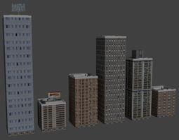 3D model Buildings building