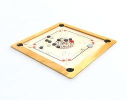 3D model game Carrom Board