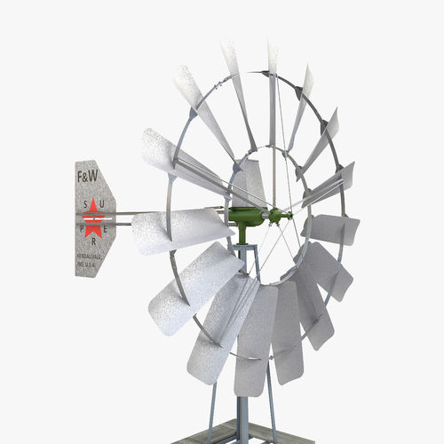 3d Model Wind Powered Well Pump Cgtrader