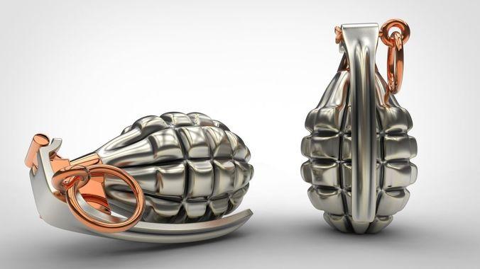 grenade 3d print model weapon model for print stl 3dm file 3d model obj mtl fbx stl blend 3dm 1