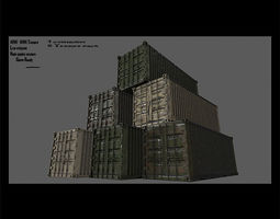 3D model container full set