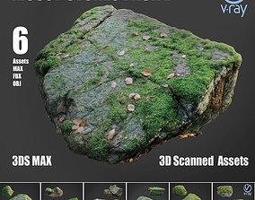 3D model Mossy stones bundle B
