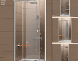 3D model Shower doors Ravak Pivot