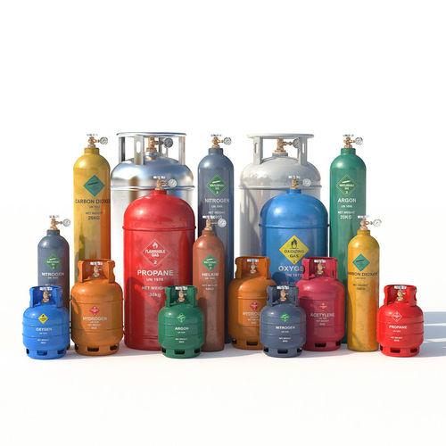 gas cylinders 3d model max obj mtl fbx 1