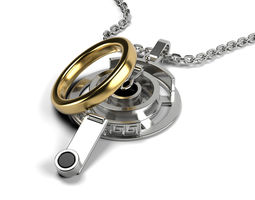 Weddeng Ring Holder Pendant 3D print model